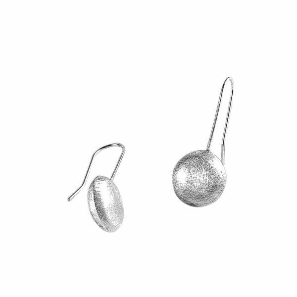 Aretes Luna Llena de plata