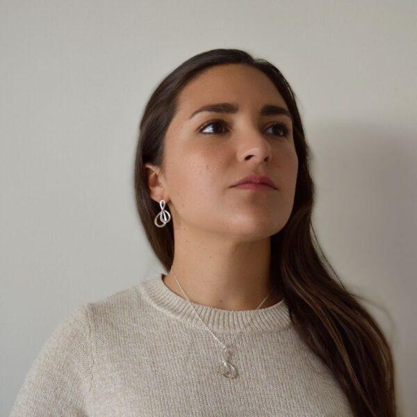 Collar y Aretes Infinito de Plata 925