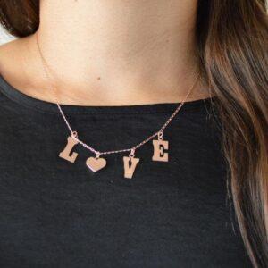 Collar de Plata Rosa Love 1