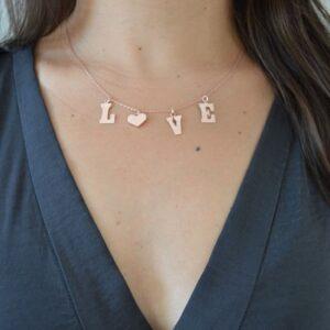 Collar de Plata Rosa Love