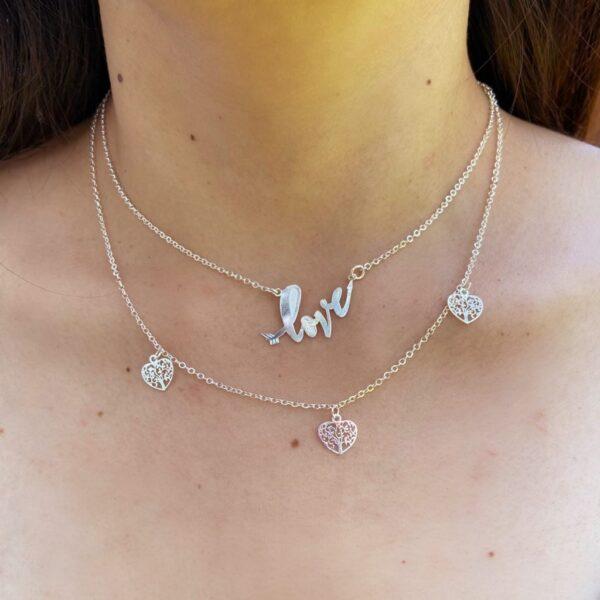 Collar Love Corazón de Plata
