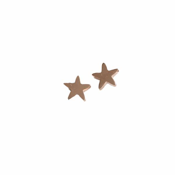 Aretes Estrellas de Plata Rosa33